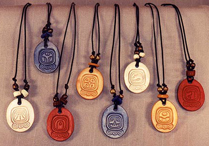 Mayan sun sign pendants in clay clay sun sign pendants aloadofball Images